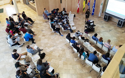 Aboriginal Youth Entrepreneurship Program participants prepare pitches at U of S